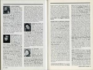 interior playbill for LADIES IN RETIREMENT Nov 1995