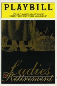 playbill for LADIES IN RETIREMENT November 1995