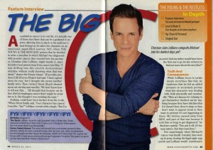 CBS SOAPS IN DEPTH March 23 2015 A