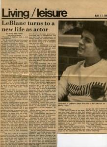 Living Leasure May 21, 1984 on Kirk McColl