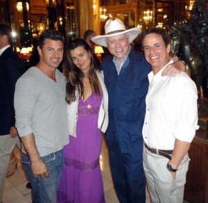 ...with Larry Hagman and Cote de Pablo