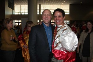 Christian with NOLA mayor and former classmate Mitch Landrieu