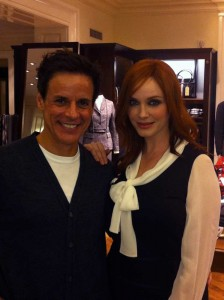 with Christina Hendricks in NOLA