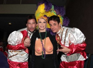 with Ricky Paull Goldin and Joan Rivers at Mardi Gras in NOLA.