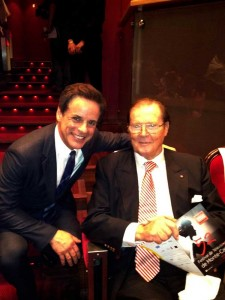 with Roger Moore in MONTE CARLO