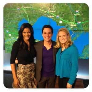 with Sheba and Laura at WWL in NOLA