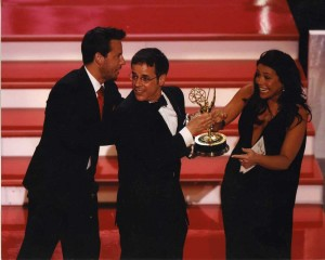 Accidently picking up the Best Show Emmy...with Ricky Goldin and Rachael Ray