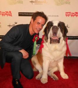 Beetoven and me at the Hollywood Xmas Parade