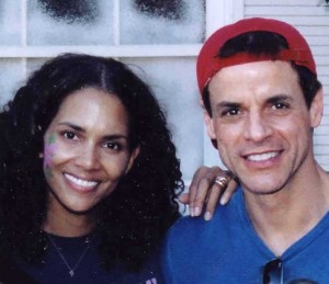 Christian and Halle Barry at Charity Event