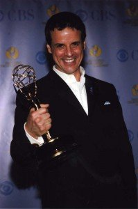 Christian standing with Emmy