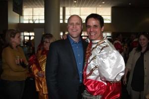 Christian with NOLA mayor and former classmate Mitch Landrieu