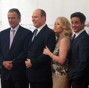 Eric, Prince Albert of Monaco, Mel Scott and Christian