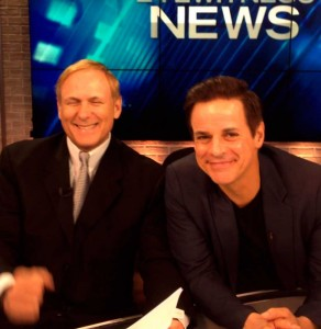 Goofing with WWL NOLA anchor Eric Paulsen