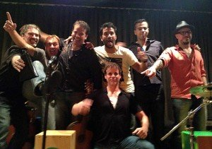Singing with Ignacio Serrichio's band.