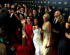 spotting Christian in the press line...EMMY 2015