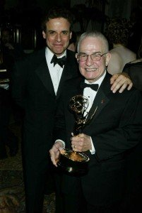 with his father Victor A. Le Blanc after 2005 Emmy win!