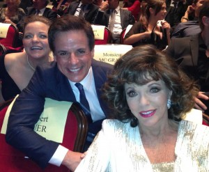 With Joan Collins and Tricia Cast in Monte Carlo