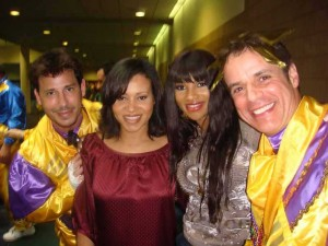 With SALT and PEPPA and Ricky Goldin at MARDI GRAS
