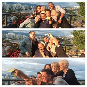 At Kate Linder's Tea in Vancouver, 2014 with George, Patty, Redaric and Craig