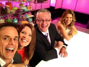 Guest judging on CUPCAKE WARS with the Stafford!