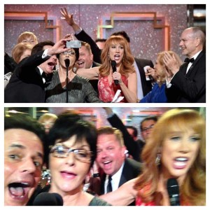 BRILLIANT if shameless, 2014 Y&R Emmy Win selfie!