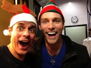 With Eric Matsolf performing at Fred Willard's SANTA-THON