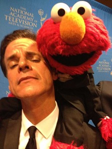 I spend a lot of time stalking Muppets, Elmo at the Emmys