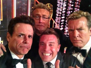 Minutes AFTER the 2014 BEST LEAD ACTOR was announced...! Doug, Billy and Peter!